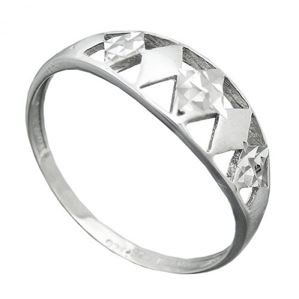 Ring, diamantiert rhodiniert, Silber 925