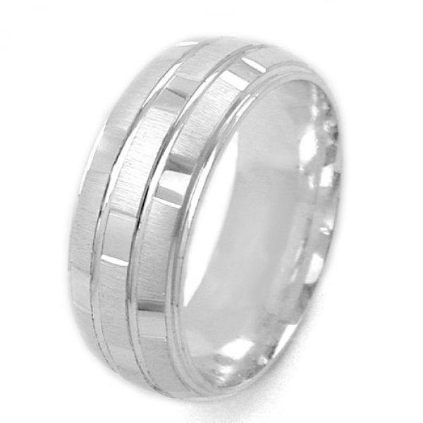 Ring, matt-glänzend, kariert, 925