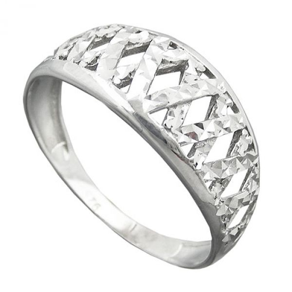Ring diamantiert rhodiniert, Silber 925