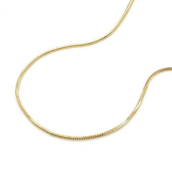 Schlangenkette, 5-kant, 42cm, 14Kt GOLD 42cm