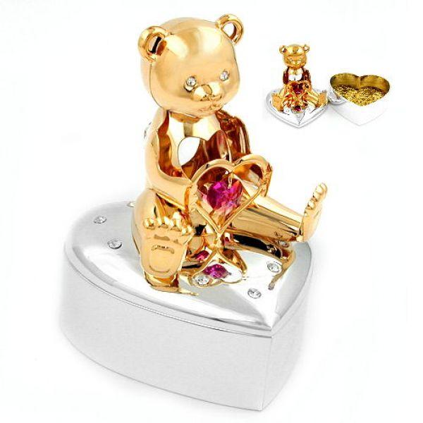 schmuck juweliere schmuckdose herz b r mit herz pink g nstig kaufen bei schmuck. Black Bedroom Furniture Sets. Home Design Ideas