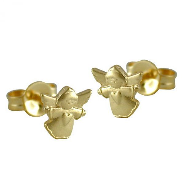 Stecker, fliegender Engel, 9Kt GOLD