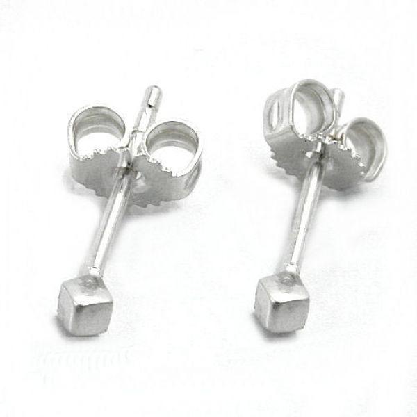 Stecker, kleiner Würfel, Silber 925