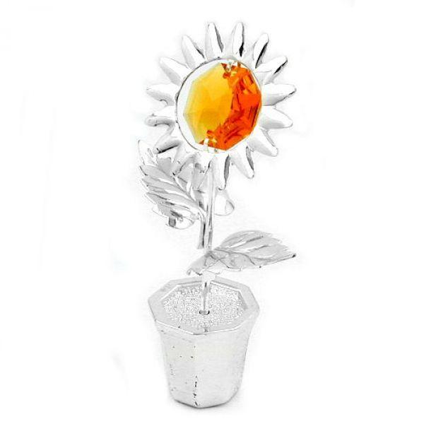 schmuck juweliere tischdekoration sonnenblume im topf g nstig kaufen bei schmuck. Black Bedroom Furniture Sets. Home Design Ideas