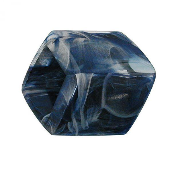 Tuchring, Sechseck blau-marmoriert-glzd