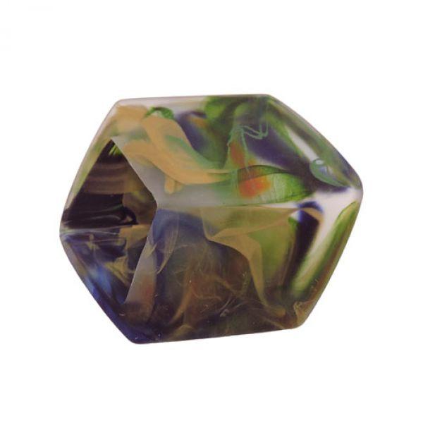 Tuchring, Sechseck, grün-blau-oliv-matt