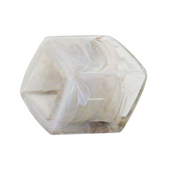 Tuchring Sechseck kristall-grau-glänzend