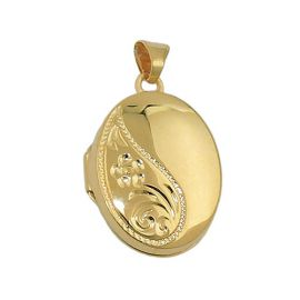 pendant locket gold plated silver 925