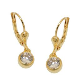 earring zirconia white 8k gold