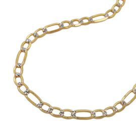 necklace figaro chain 50cm 14k gold