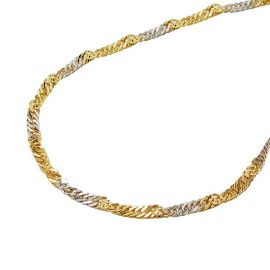 necklace singapore 50cm chain 9k gold