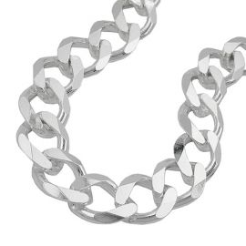 necklace open curb chain 11 mm silver 925 55cm