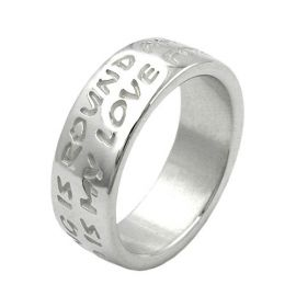 Ring mit Gravur LOVE HAS NO END in Silber 925